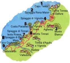 Cartina Sardegna Isola Rossa.Da Santa Teresa A Castelsardo Isola Di Sardegna